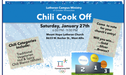 Annual Chili Cook-Off January 27th,6pm